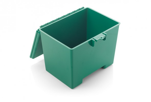 warwicksasco-medicalboxesstoragecontainers-green-transportation-box-with-hinged-lid-MB2318Gopen