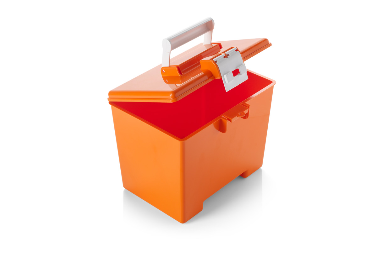 Orange Transportation Box With Hinged Lid Mb2318 Warwick